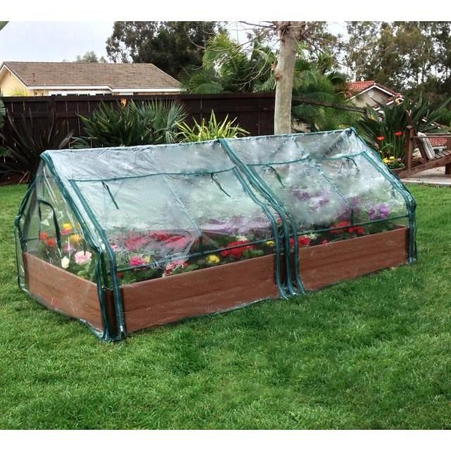 Frame It All Raised Garden 2 inch 4 x 8 2 Level cw 2 PVC