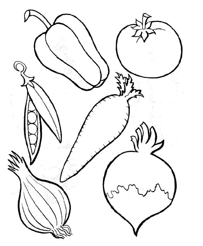 Six Kinds Of Perfect Vegetables Coloring Pages | SUNDAY SCHOOL ...