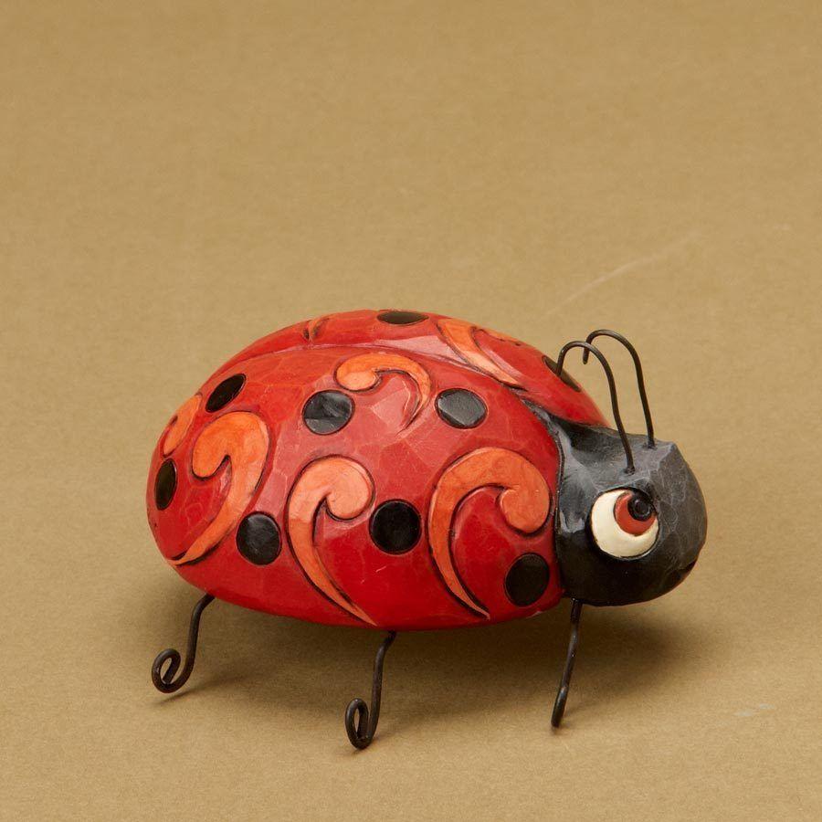 Jim Shore Heartwood Creek Miniature Animal Figurine 4021439 Mini Ladybug Ladybug Miniature Animals Jim Shore