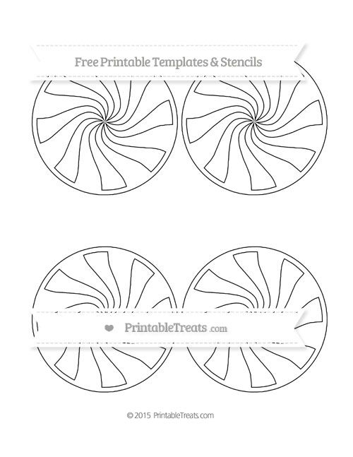 Free Printable Medium Peppermint Candy Template