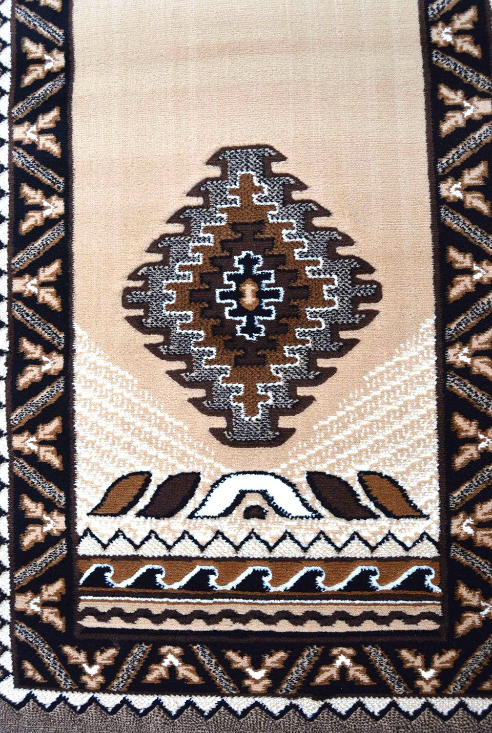 Rugs 4 Less Collection Southwest Native American Indian Long Runner Area Rug Design R4l 143 Beige Berber 24x1011 You Can Get Additional Details At The