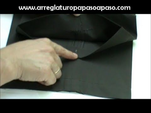 hacer el bajo de un pantalón sin coser | Costura