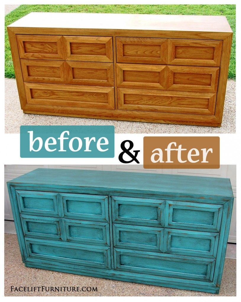Distressed Turquoise Dresser With Black Vintage Pulls | Turquoise Dresser,  Dresser And Turquoise
