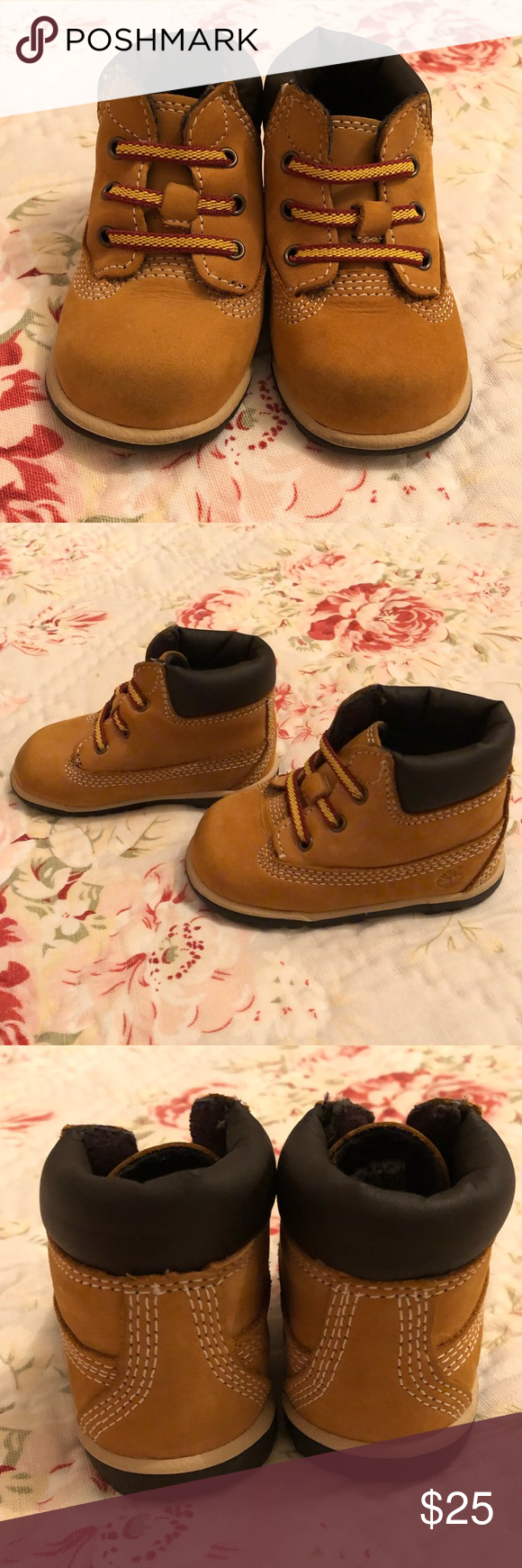 TIMBERLAND WHEAT INFANT BABY BOOTS SIZE