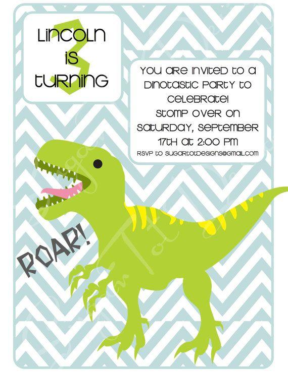 dinosaur birthday party invitation dino party pinterest