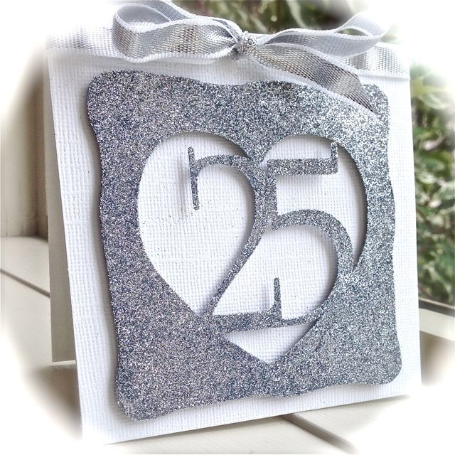 A Silver Anniversary Card Anniversary card for parents
