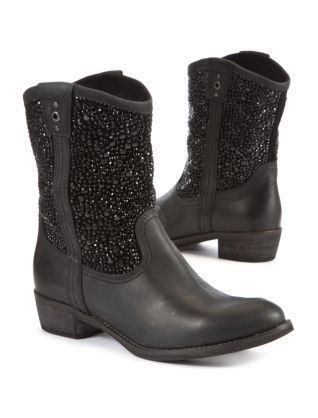 Black Limited Black Leather Embellished Cowboy Boots   New Look (99 ... 972ae641ecc8