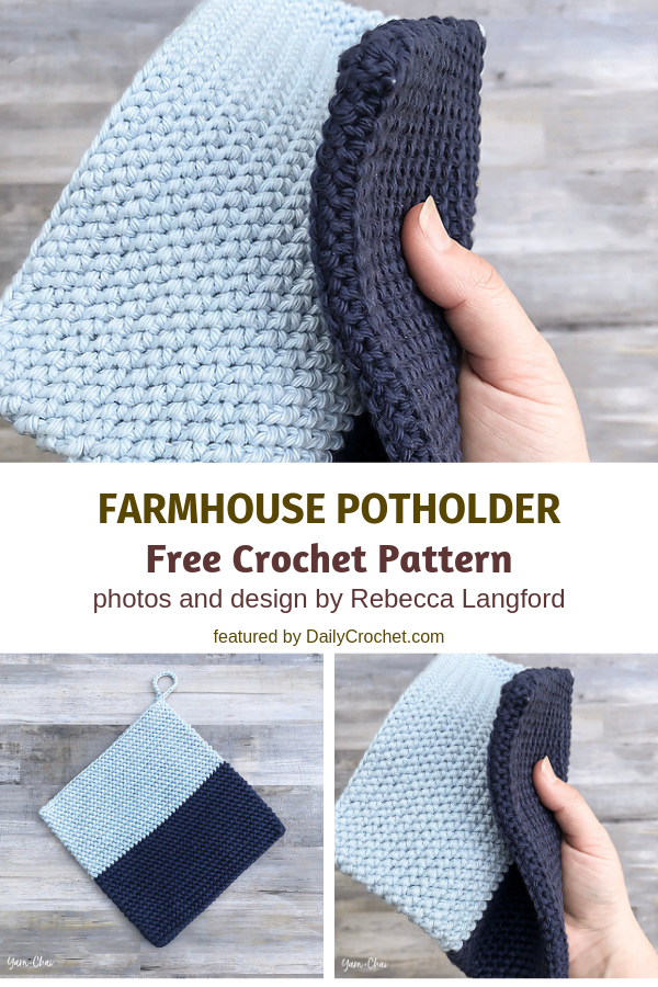 3 Double Sided Crochet Potholders Patterns You'll Love - Knit And Crochet Daily
