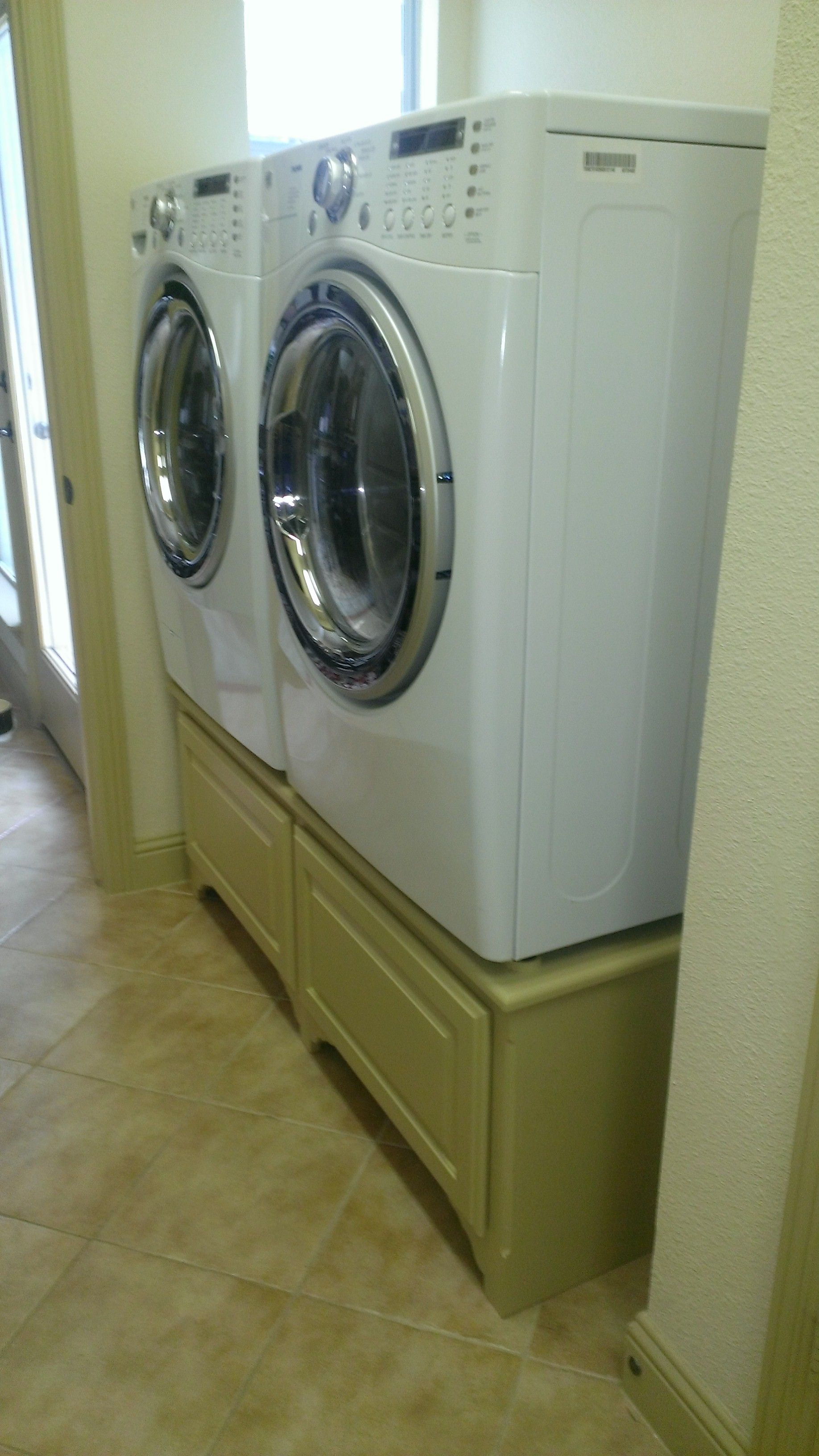 Diy Washer And Dryer Pedestal Laundry Washer Amp Dryer