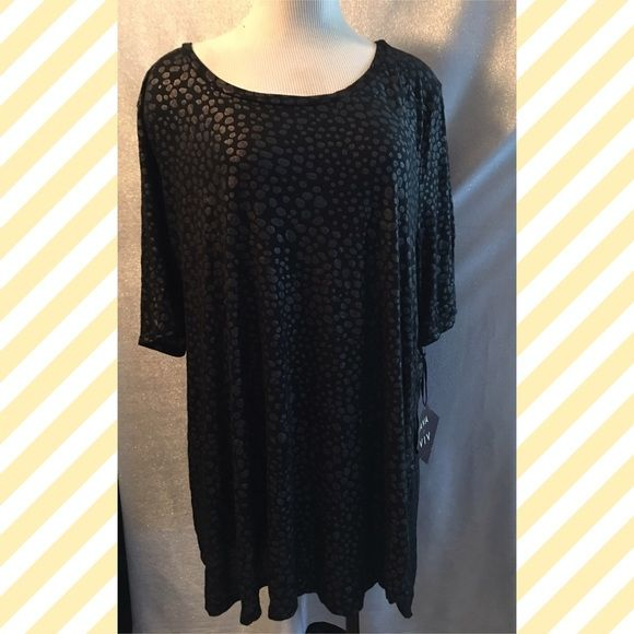 Nice blouse ➕ size flash sale Nice high low blouse with gray pebble print (24W26W) Tops Blouses