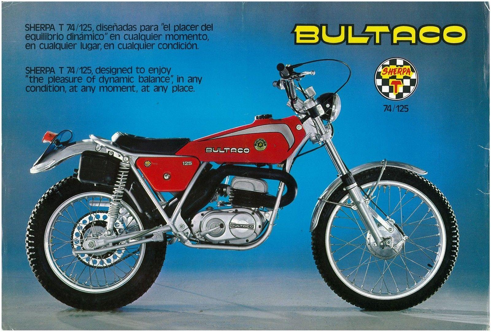 Bultaco Brochure Sherpa T 74 125 Model 184 Trials 1976 1977 1978 Sales Catalog Repro | eBay