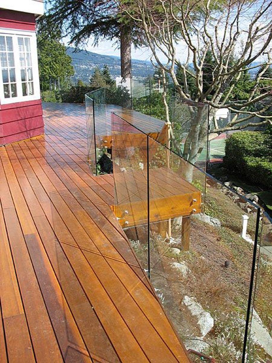Glass Railing System Glass Balcony Glass Railing: 50 Incredible Glass Railing Design For Balcony Fence