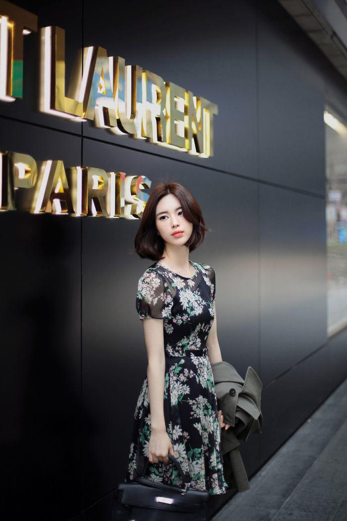 Frete grátis 2015 coréia milkcocoa vestido Floral Chiffon t com suspensórios saia de duas peças em Vestidos de Roupas e Acessórios no AliExpress.com | Alibaba Group