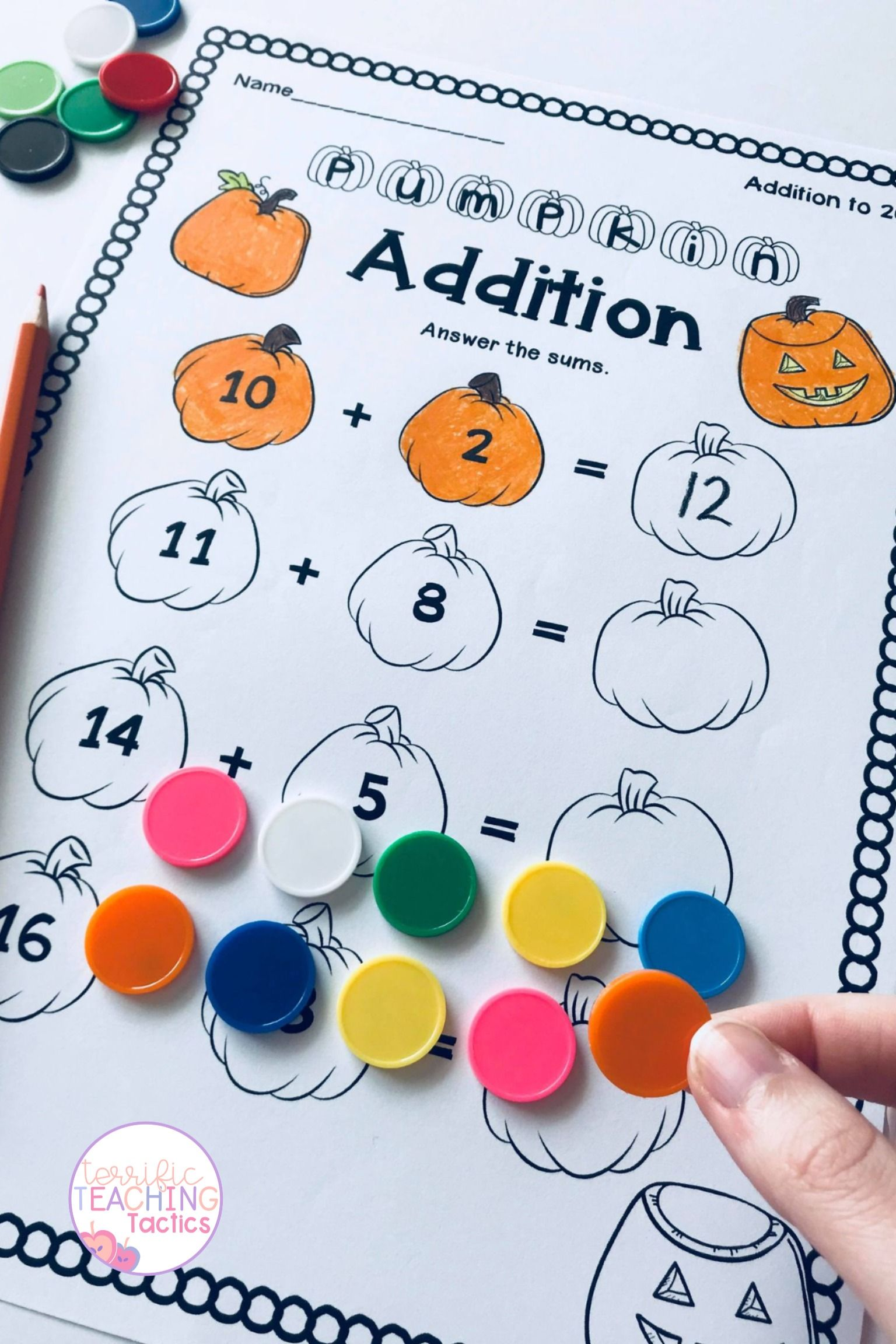 Halloween Math Worksheets In