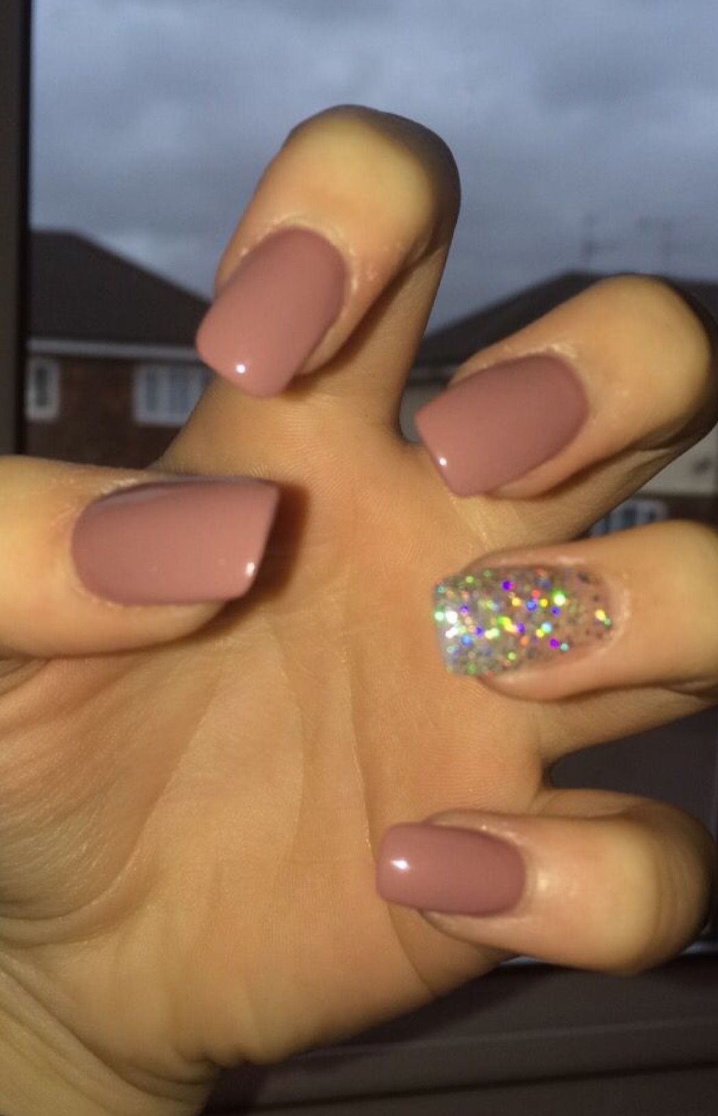 Pin by erin on nails pinterest nail nail make up and hair make up my nudepink and silver square oval acrylic nails prinsesfo Gallery