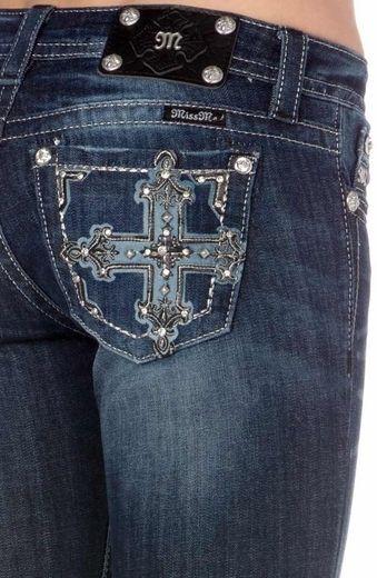 Miss Me DK 246 Embellished Cross Bootcut Jeans - Kimboze.com
