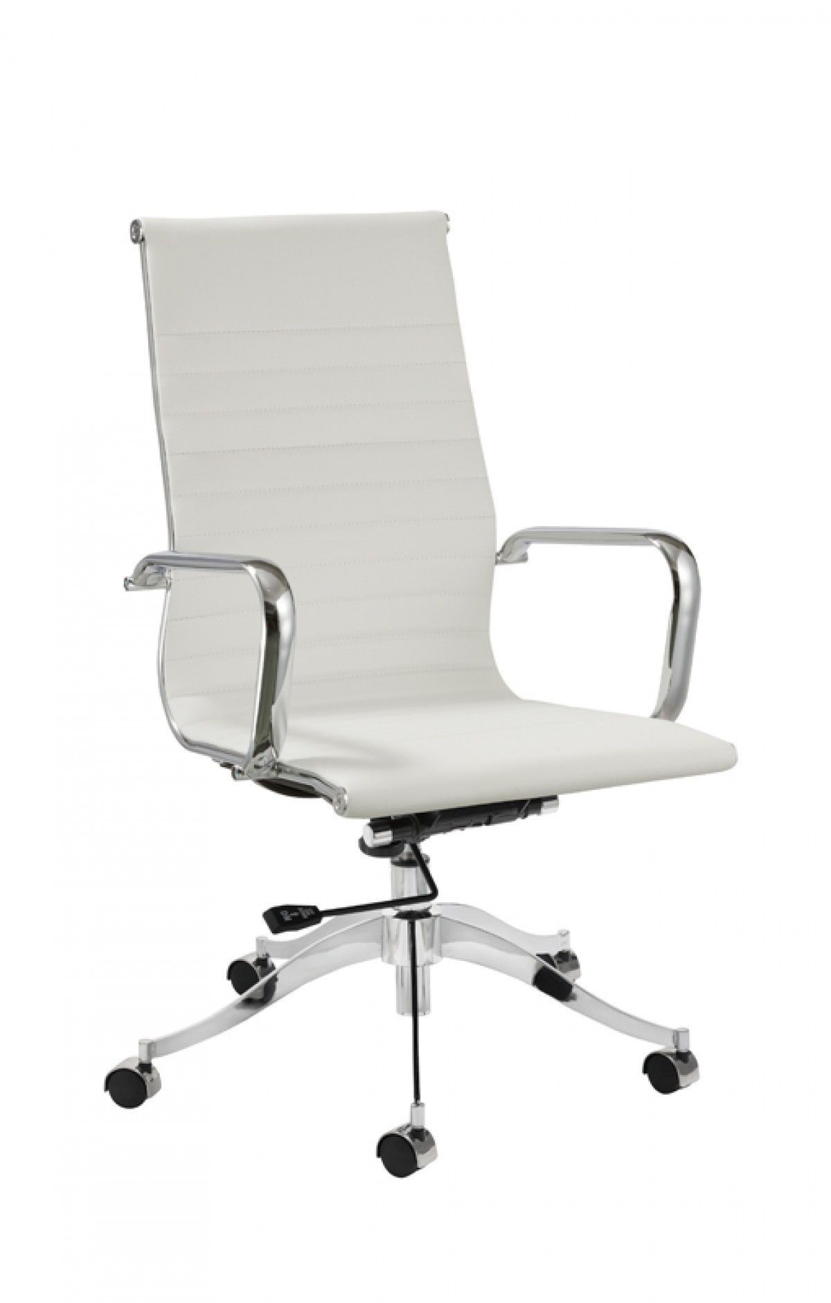 white modern office chair white rolling. Modrest Graham Modern White Office Chair VGCBT-8220-WHT Rolling A