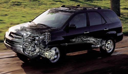 MDX ghosted car illustration