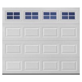 Pella Traditional 8 Ft X 7 Ft Insulated White Garage Door With Windows Basement Door Single Garage Door Garage Door Installation White Garage Doors
