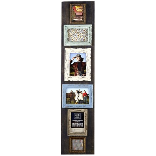 6 Opening Rustic Collage Frame By Studio Decor Collage Frame Diy Barn Wood Picture Frames Studio Decor