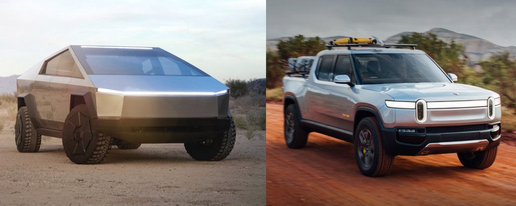 Tesla Cybertruck Vs Rivian R1t Electric Pickup Comparison