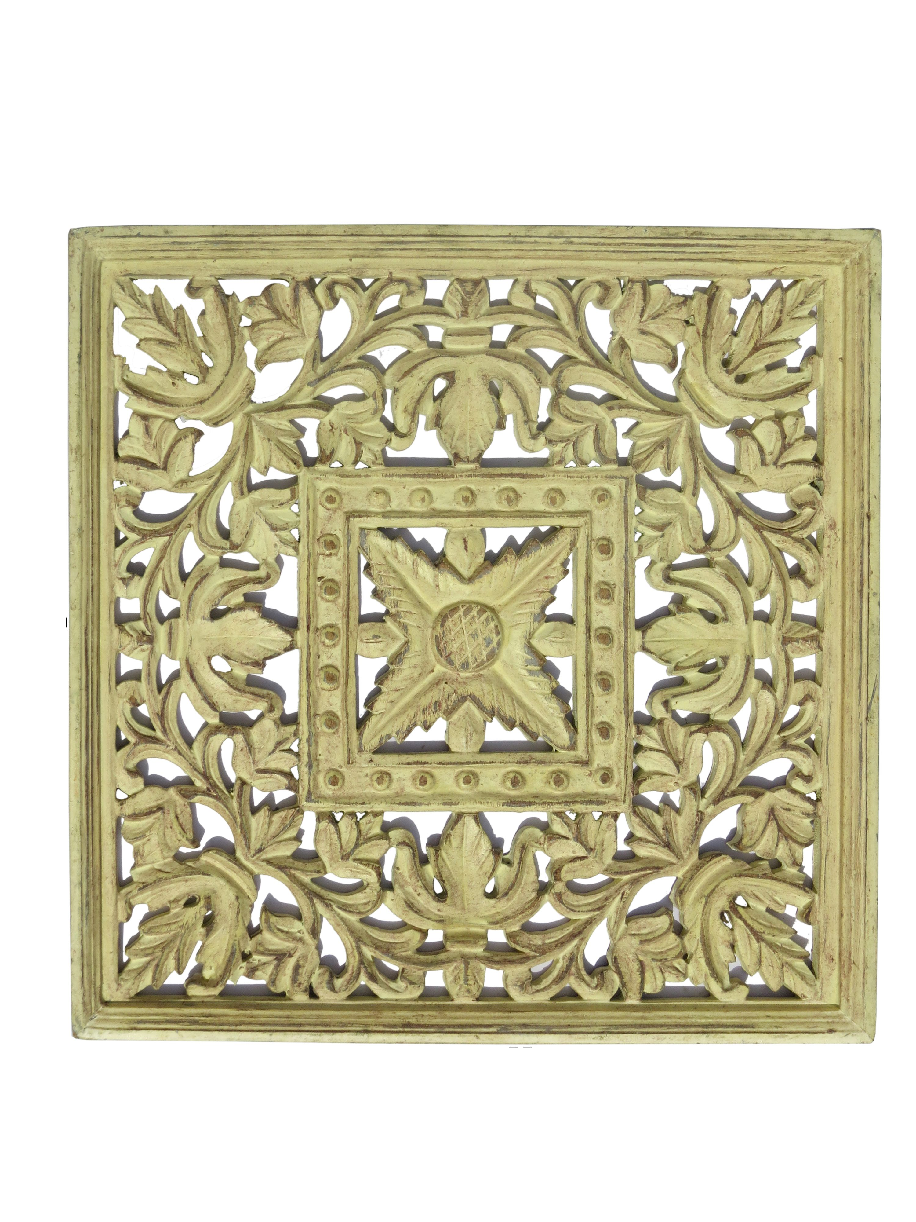 Mdf Carved Panel Design In Cream And Brown Antique Finish Reliable Durable Indian Authentic Handicrafts Wi Wooden Wall Panels Hand Carved Wood Panel Design
