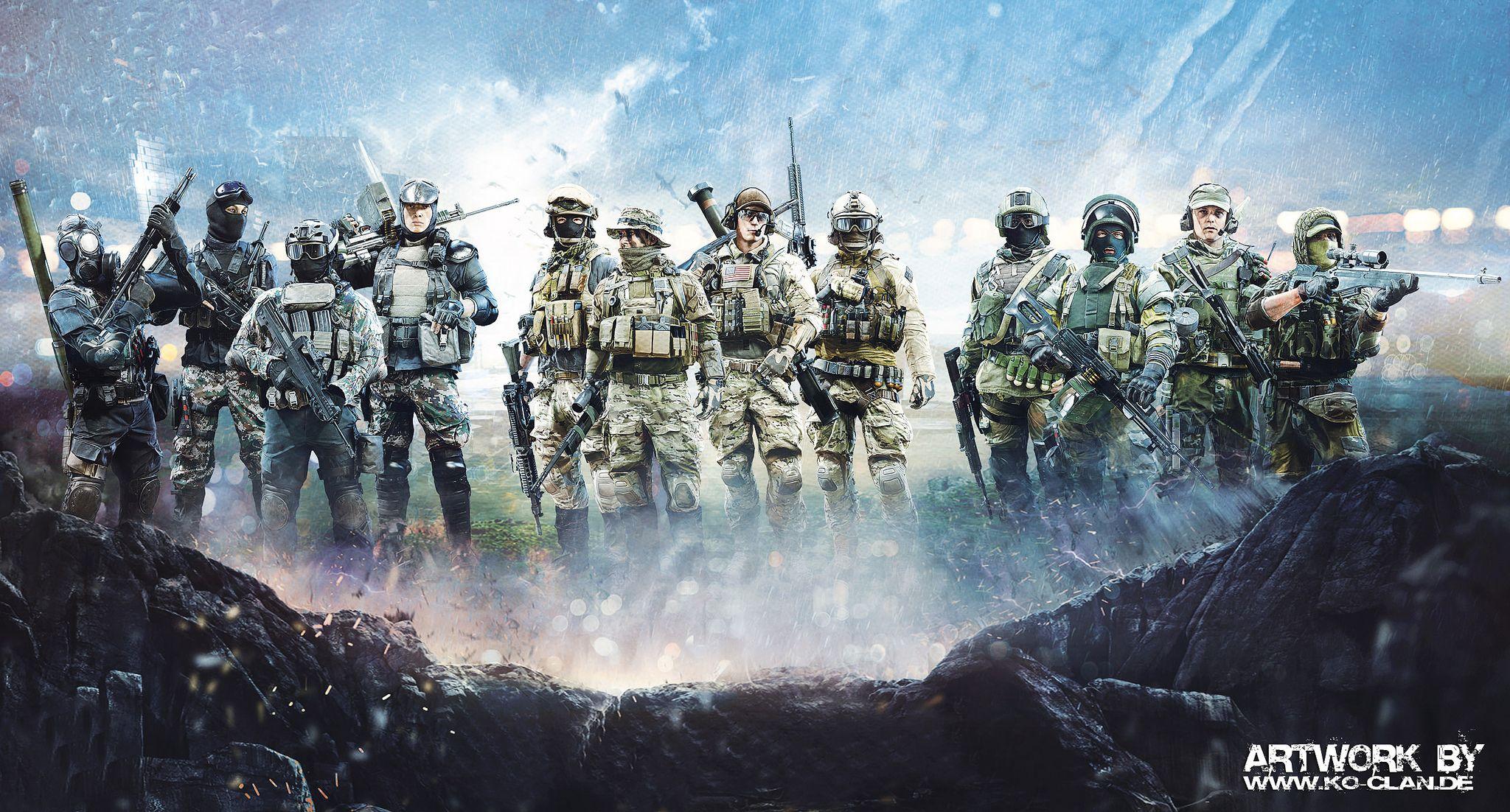 Battlefield 4 Soldiers Wallpaper Artwork