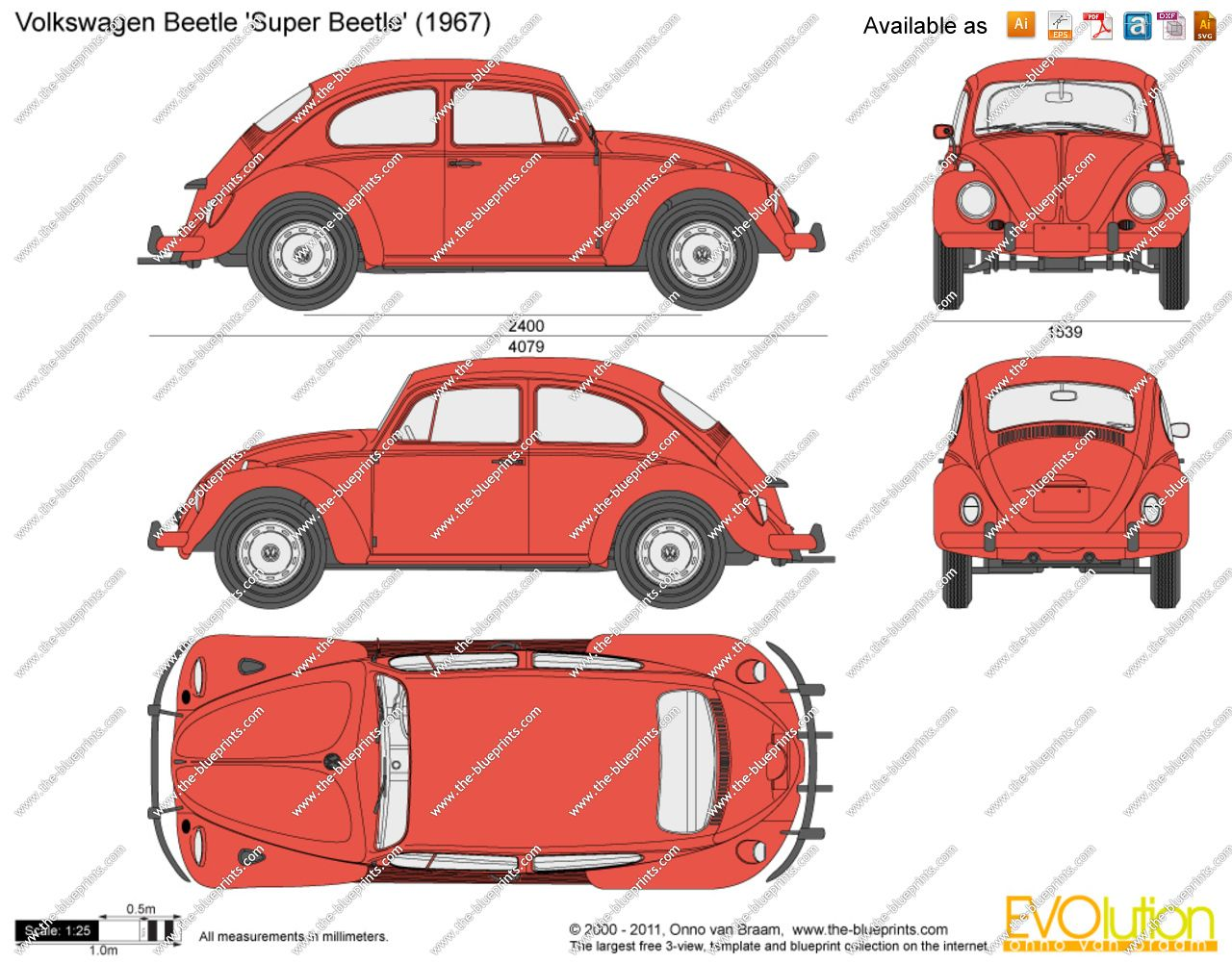 Volkswagen Beetle Super Beetle Sheila 1971 Vw Bug