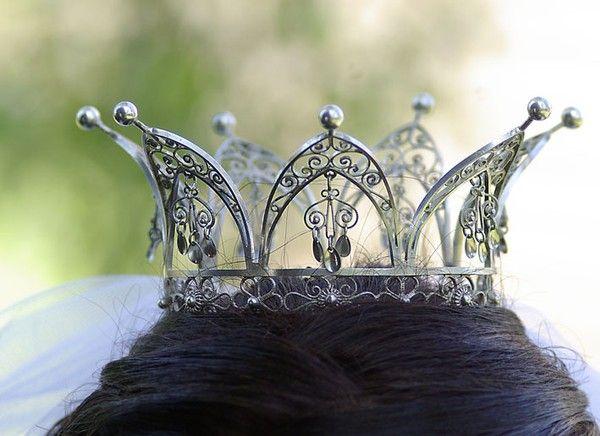 Silver filigree crown belonging to Granhult church, Sweden.