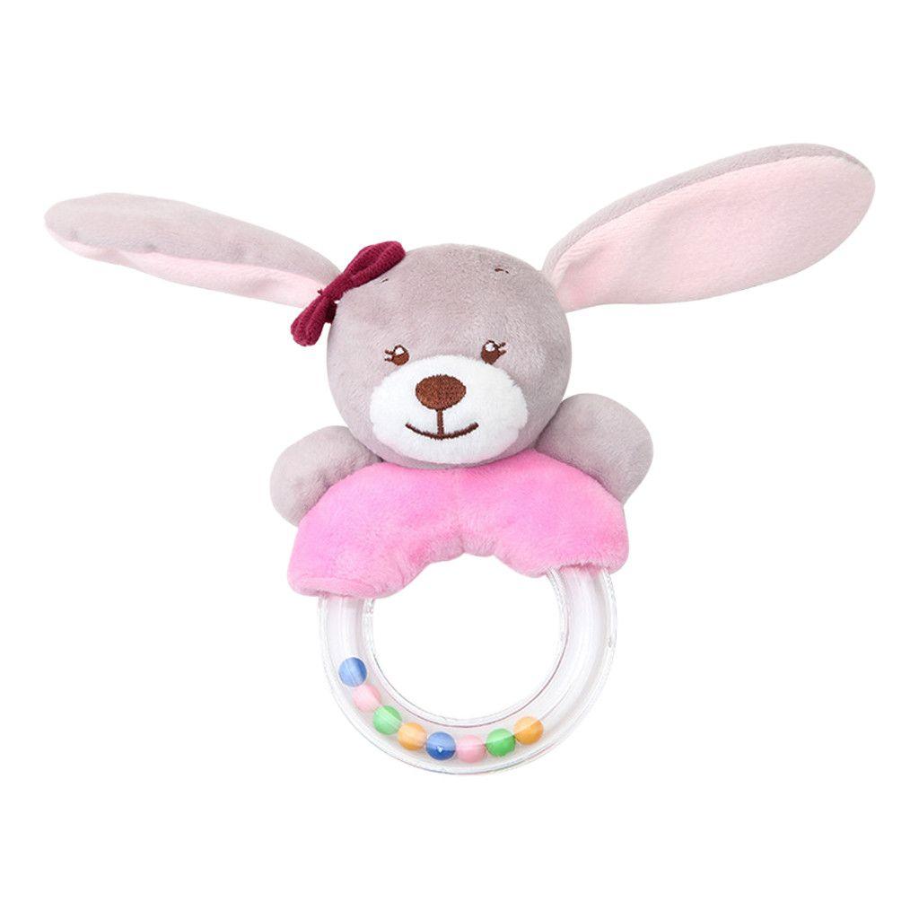 matoen Cute Baby Rattle Rabbit Plush Baby Cartoon Baby Toy Education Baby Rattle