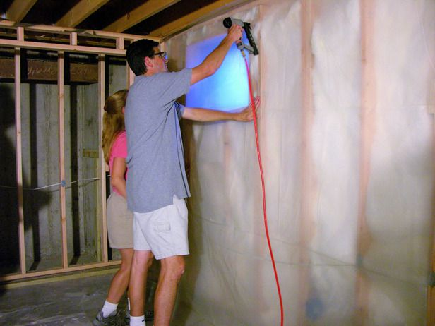 Lighting Basement Washroom Stairs: HOW TO RUN ELECTRICAL WIRE AND INSTALL INSULATION