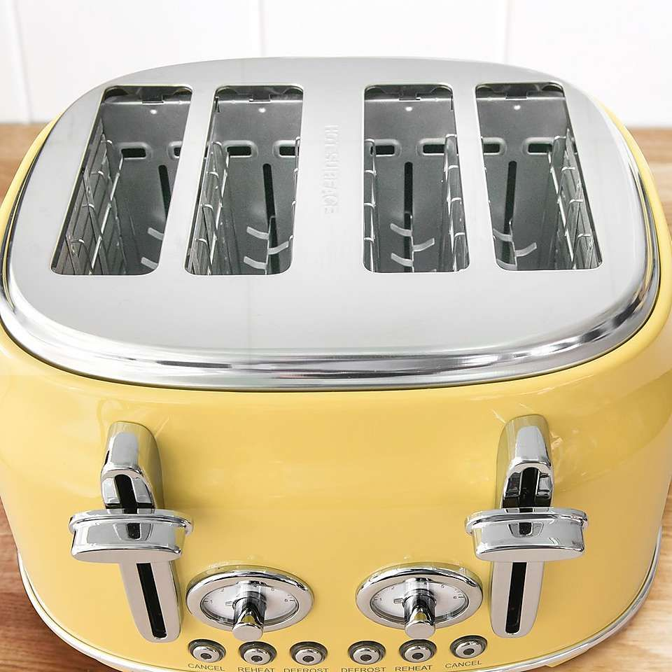 Retro Yellow 4 Slice Toaster Yellow Toaster Toaster Retro