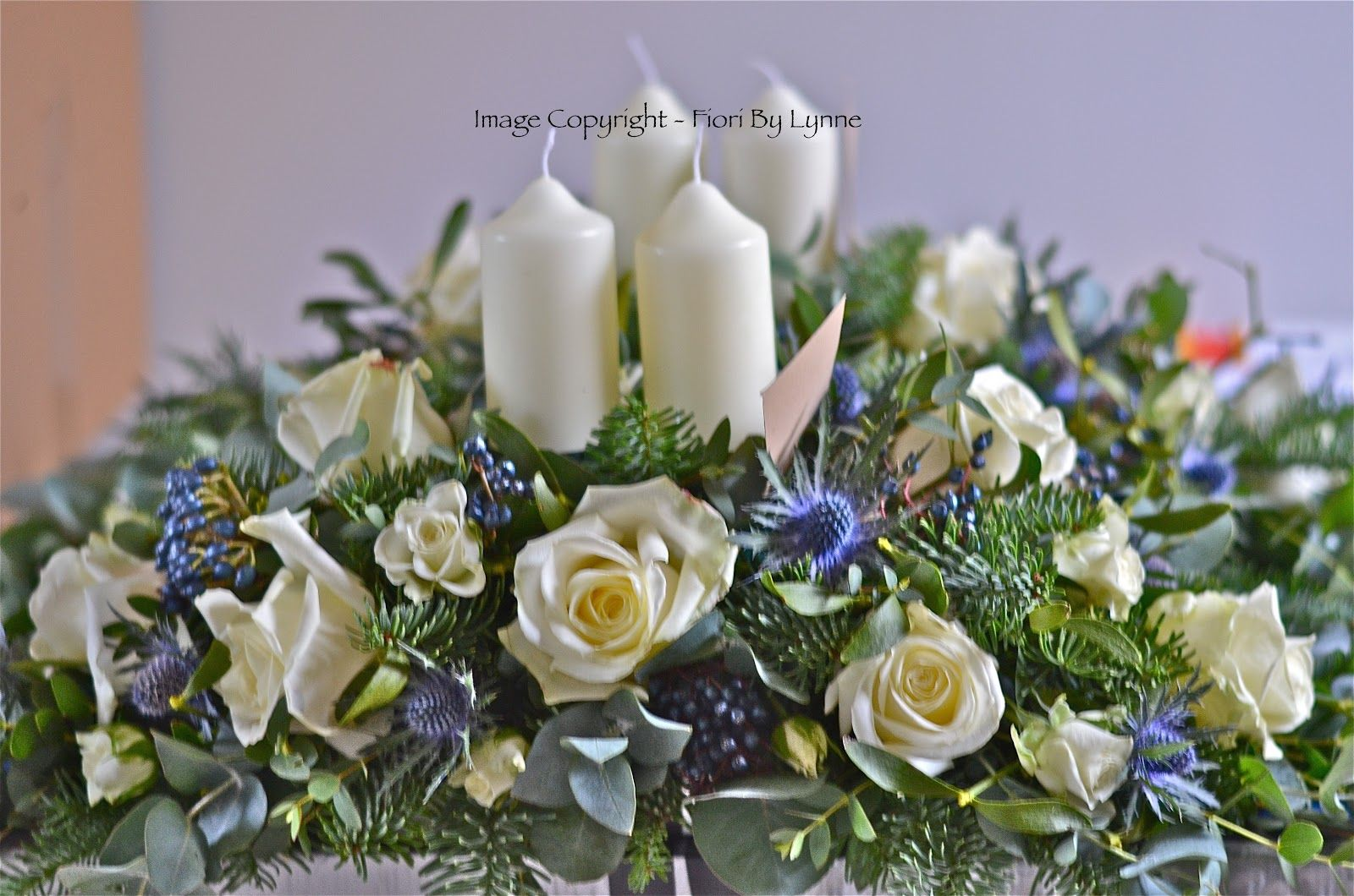 wedding flowers blog lauras christmas wedding flowers roses and thistles