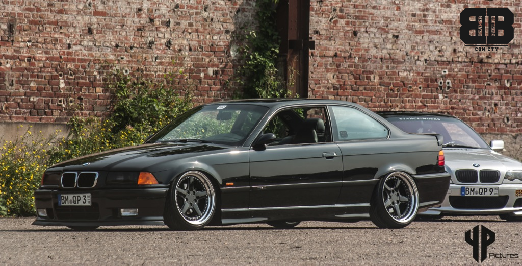 Black Bmw E36 Coupe On Super Rare Ac Schnitzer Type 1 Racing