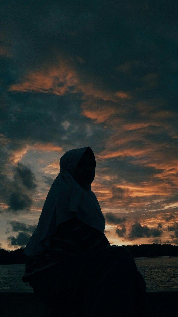 Muslimah Siluet : muslimah, siluet, Senja, Indah, Sesaat.., #tbme, Gadis, Pantai,, Potret, Diri,, Fotografi
