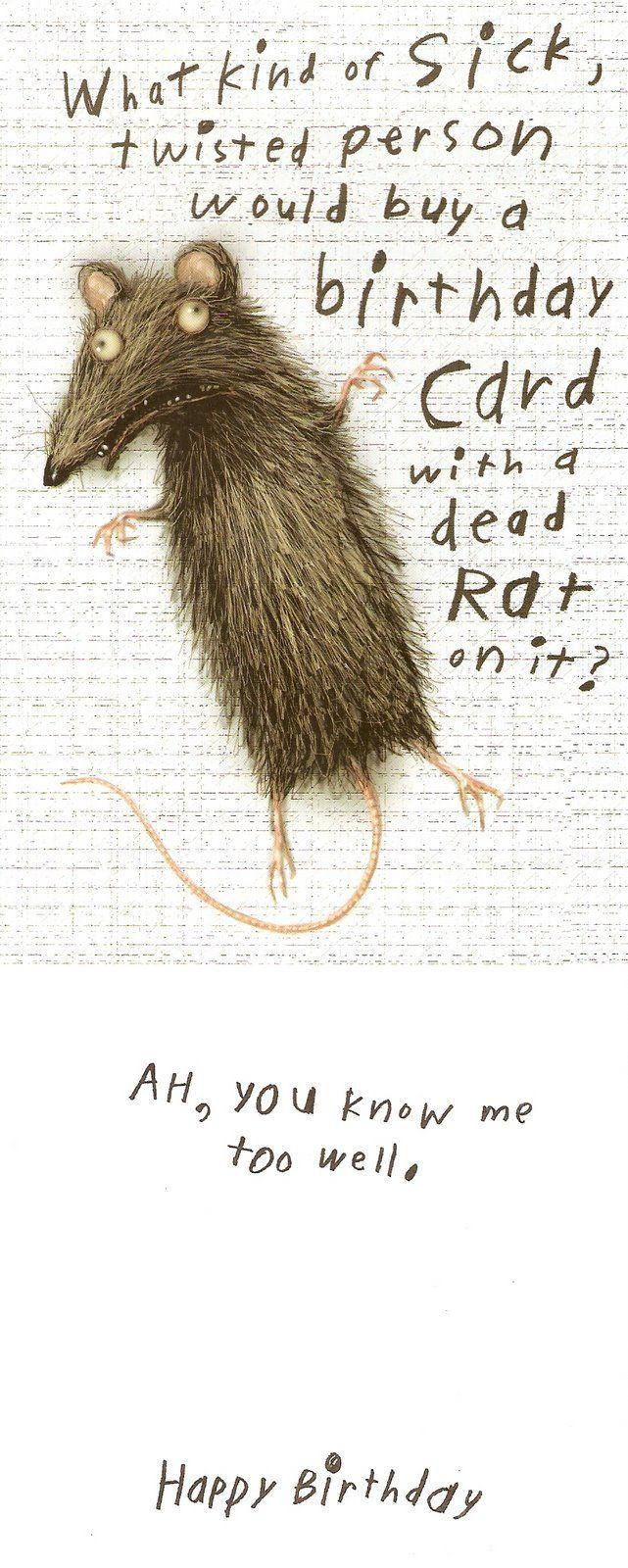 Rat Birthday Card