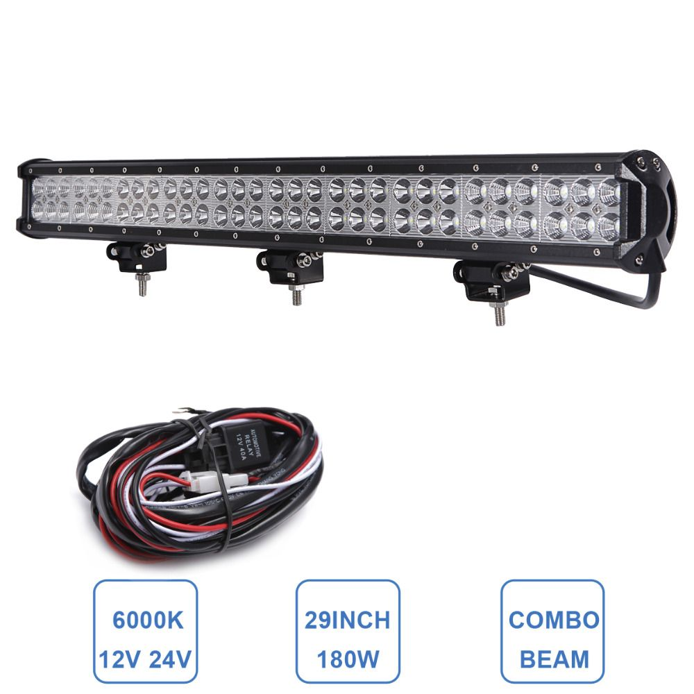 29 180w offroad led light bar for jeep honda toyota ford vw 12v 29 180w offroad led light bar for jeep honda toyota ford vw 12v 24v mozeypictures Images