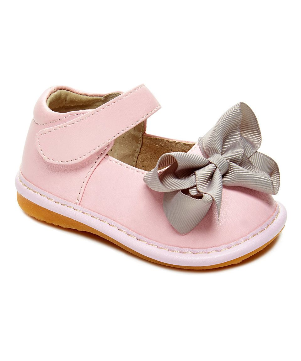 8842887166 Laniecakes Light Pink Add-a-Bow Squeaker Mary Jane