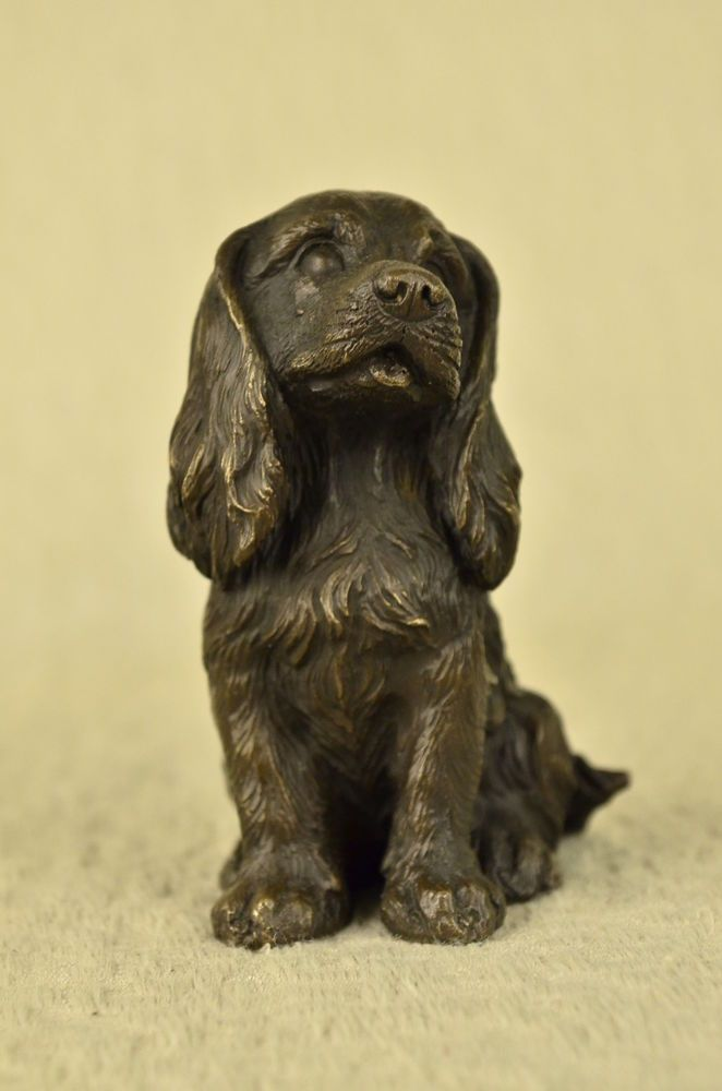 English Cocker Water Spaniel Boykin Bronze Dog Statue Breeder Kennel Gift Decor