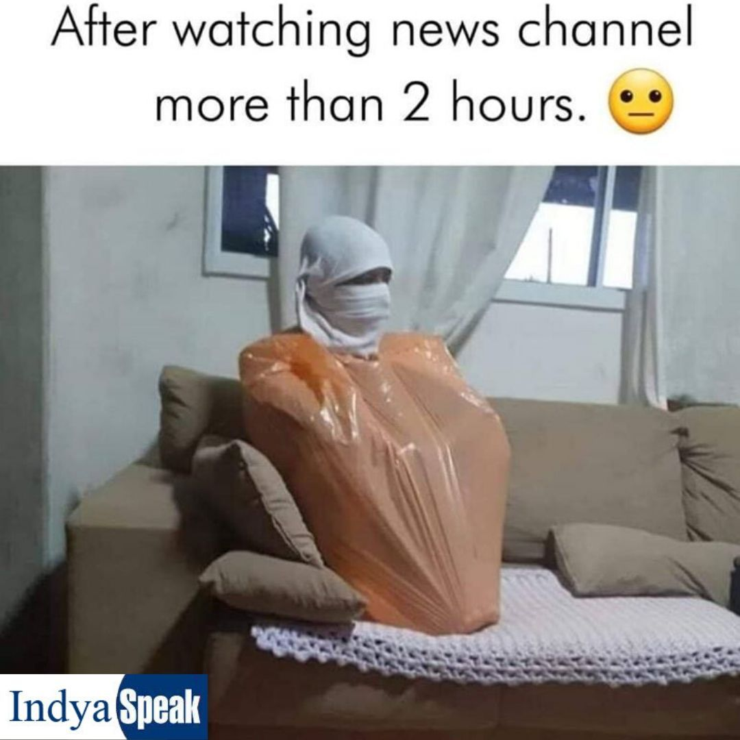 After Watching News Channel More Than 2 Hours Funny Cartoon Memes Fun Quotes Funny New Funny Jokes
