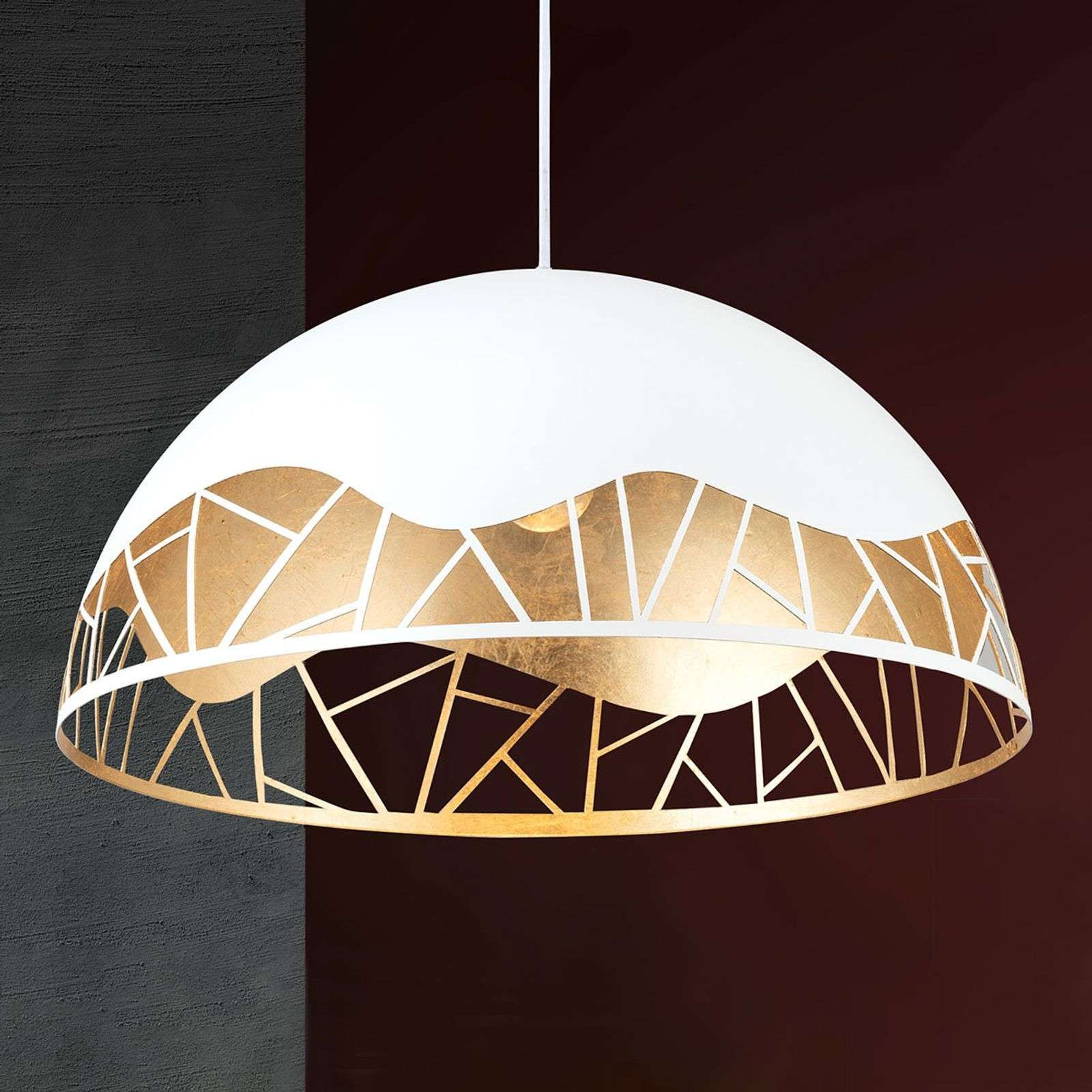 Suspension Trance Feuille D Or In 2020 Hanglamp Tafelverlichting Bladgoud