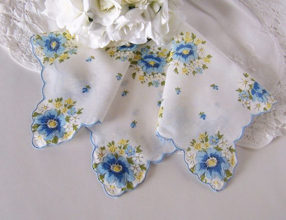 Wedding Handkerchief for a Bride Vintage by GreenbriarCreations