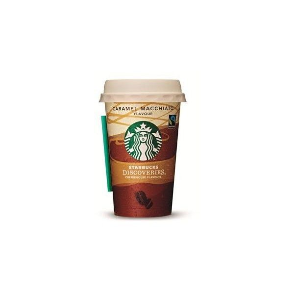 Starbucks Discoveries Caramel Macchiato | Cision Wire ❤ liked on Polyvore featuring food, drinks, fillers, starbucks and food and drink