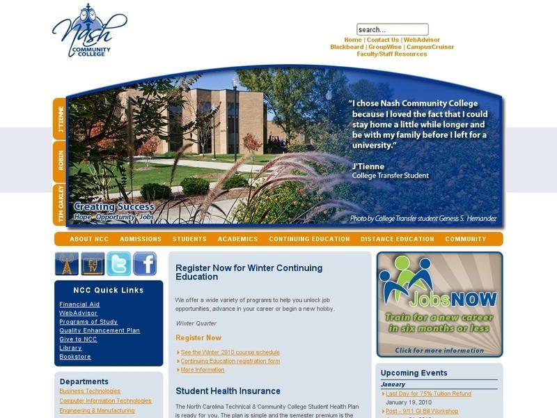 Nash Community College Around Campus Pinterest