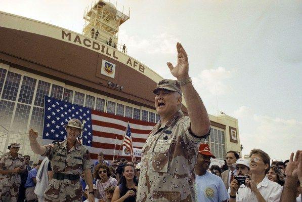 AFTER THE WAR: Cease-Fire Meeting; A Hard-Faced Schwarzkopf Sets Terms at Desert Meeting  4 Mar 1991