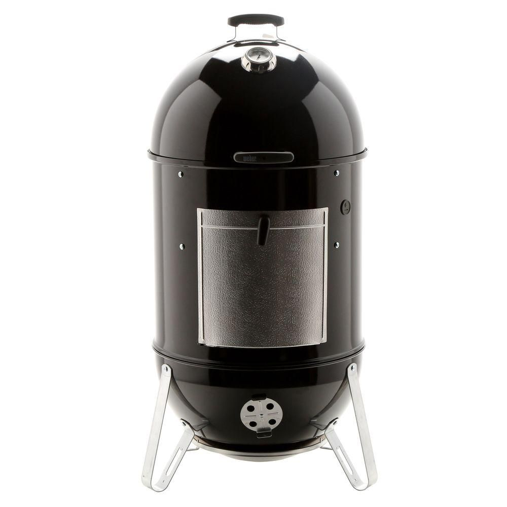 Weber 22 In Smokey Mountain Cooker Smoker In Black With Cover And Built In Thermometer 731001 The Home Depot In 2020 Weber Smokey Mountain Weber Smokey Mountain Cooker Weber Grill Cover