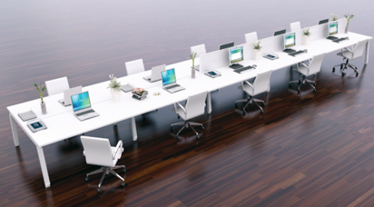 Long Desks Office Desk Height Contemporary Office Office