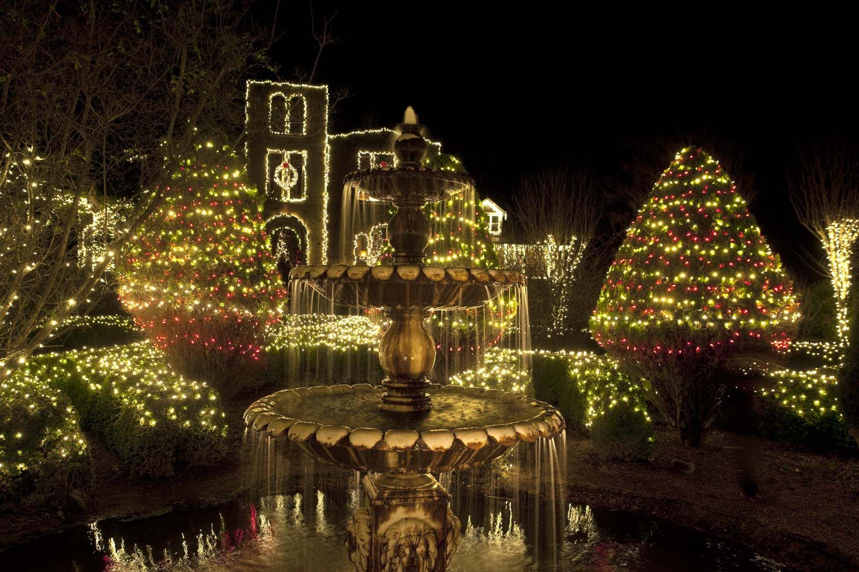 a new southern holiday tradition the lighting of the ruins at
