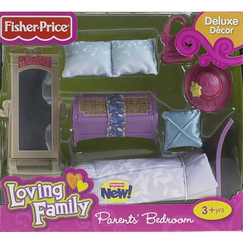 fisher-price loving family dollhouse furniture set - parents