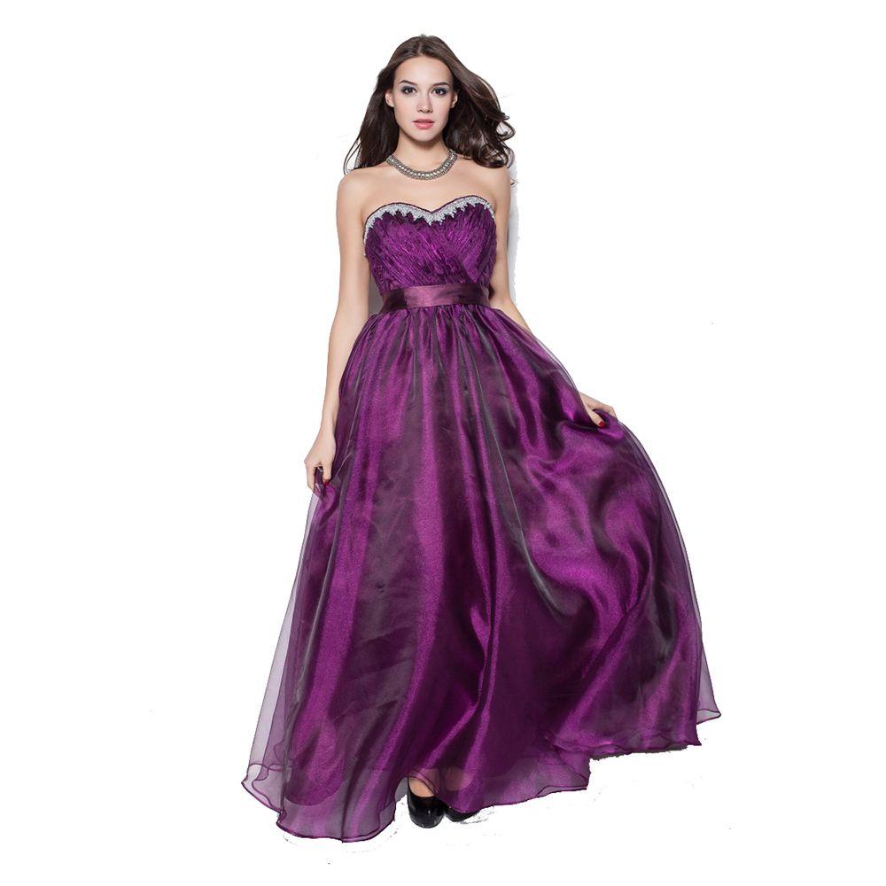 Long strapless organza evening dress backless us size robe de